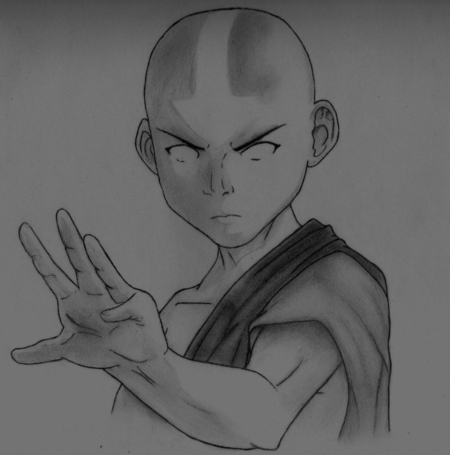how to draw aang the last airbender by darkknights35 on deviantart avatar to how aang draw