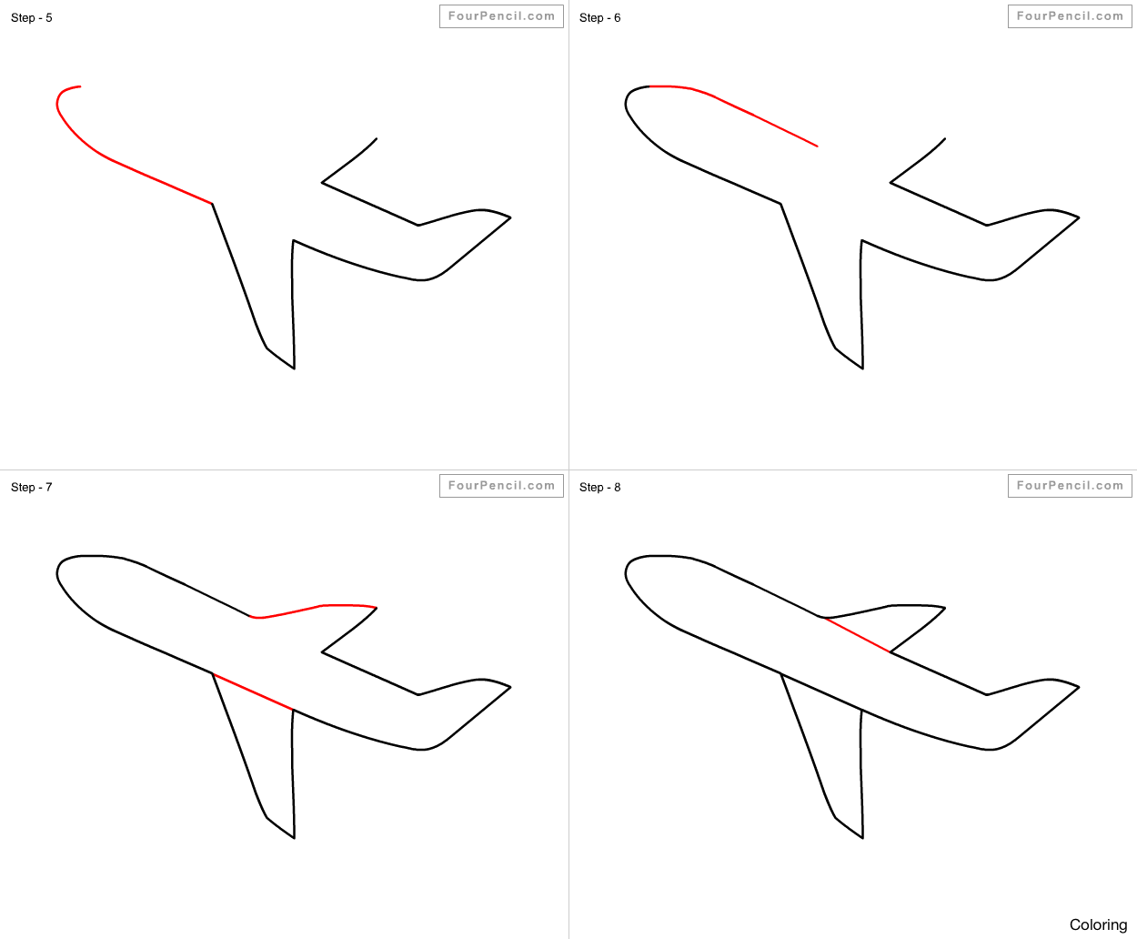 how to draw an airplane step by step drawing a cartoon airplane in 2020 airplane drawing how airplane step to by an draw step