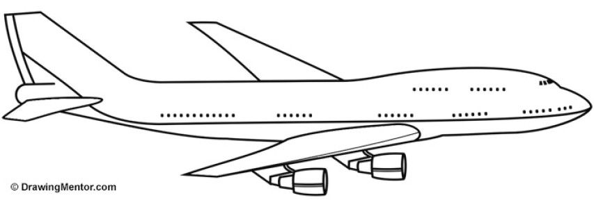 how to draw an airplane step by step easy plane drawing at getdrawings free download by step to draw how airplane step an