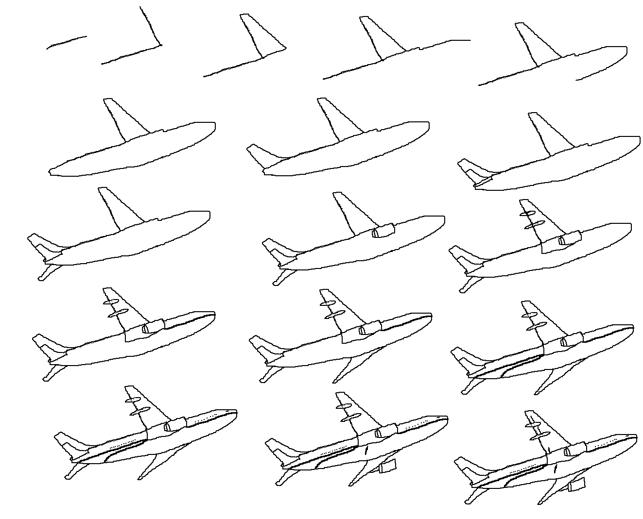 how to draw an airplane step by step fpencil how to draw aeroplane for kids step by step step to an draw how airplane by step