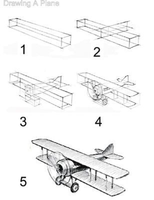 how to draw an airplane step by step how to draw a plane drawingforallnet how airplane to step an draw by step