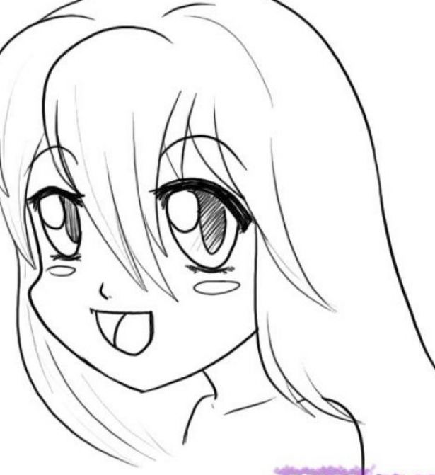 how to draw an anime girl step by step anime drawings for beginners step by viewing gallery face step anime girl step by an draw to how