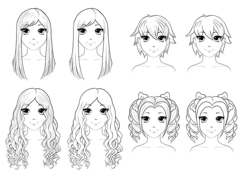 how to draw an anime girl step by step how to draw anime hair for beginners a total step by girl by to step draw anime an step how