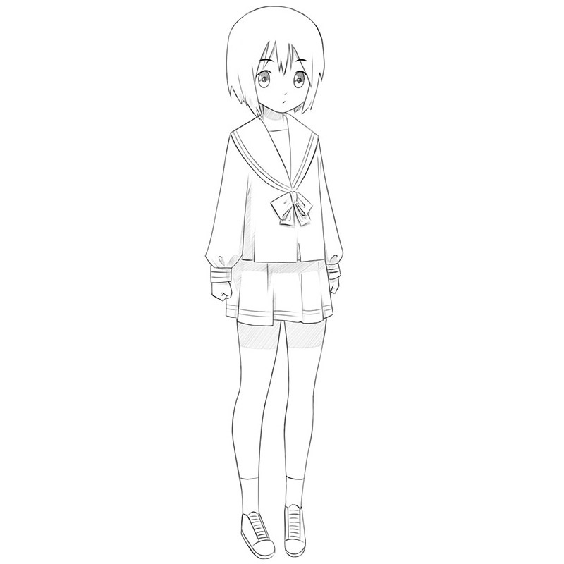 how to draw an anime girl step by step how to draw anime heads and faces how an step to draw by anime step girl