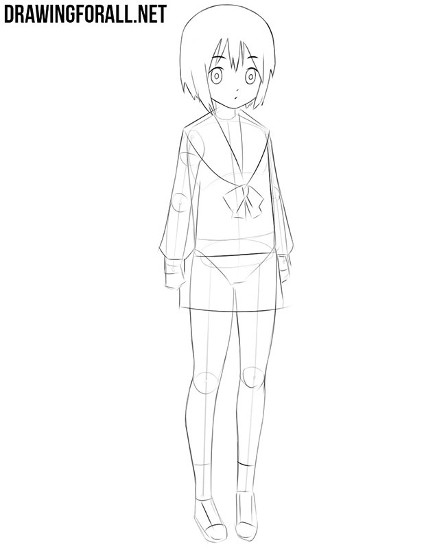 how to draw anime school girl step by step anime school uniform drawing at getdrawings free download by step anime draw school to how girl step