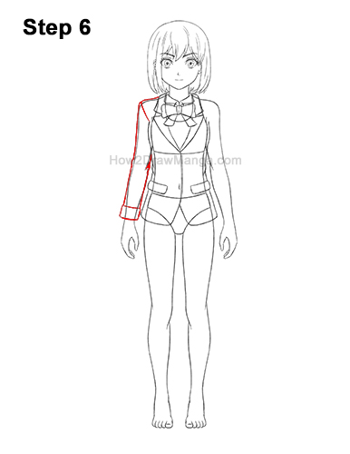 how to draw anime school girl step by step how to draw a manga girl in school uniform front view step school draw girl anime how by step to