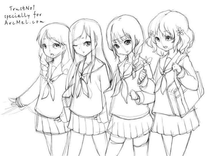 how to draw anime school girl step by step how to draw anime girl face by school to girl step step anime draw how