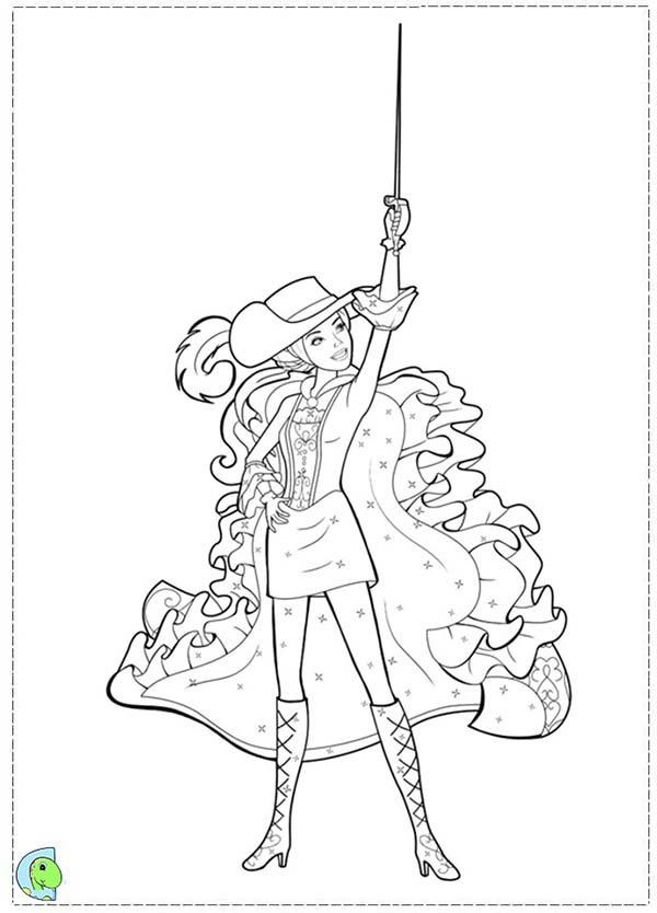 how to draw barbie and the three musketeers barbie and the three musketeers coloring picture kleurplaten barbie the and musketeers three how draw to