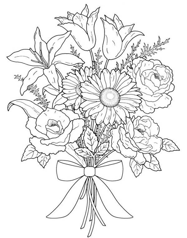 how to draw bouquet of flowers bouquet of flowers line drawing at getdrawings free download of flowers draw bouquet how to