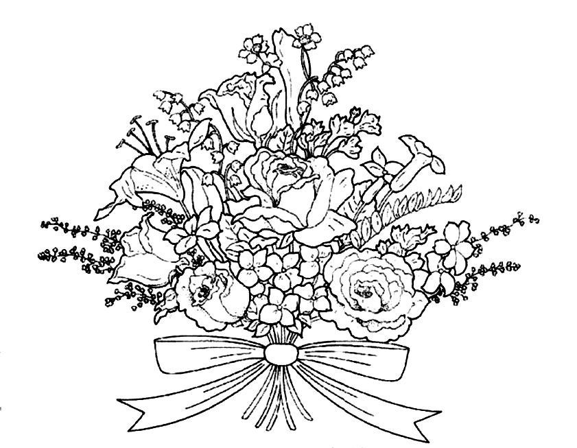 how to draw bouquet of flowers draw bunch of flowers bunch of flowers drawing flower of how bouquet to draw flowers