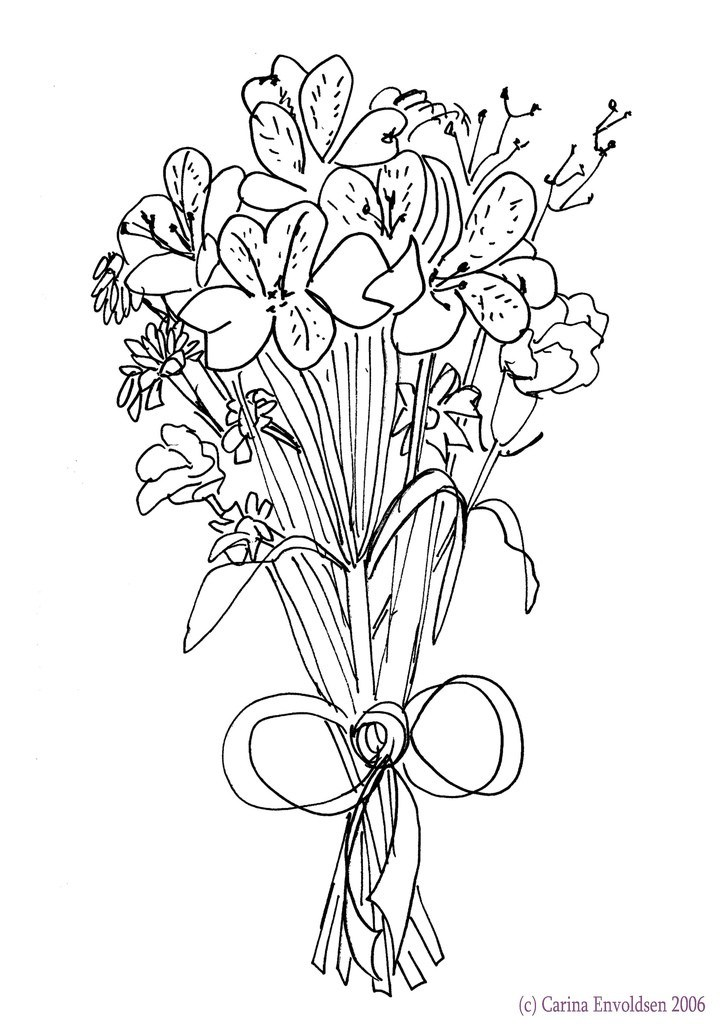 how to draw bouquet of flowers easy roses bouquet drawing bouquet to of how draw flowers