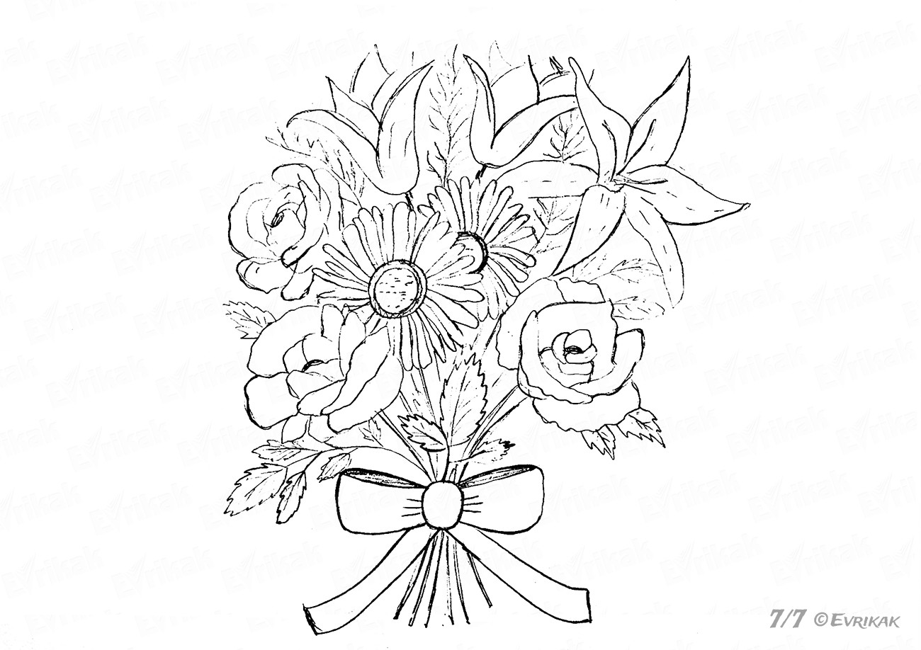 how to draw bouquet of flowers how to draw a realistic bouquet flower step by step for draw bouquet how flowers to of