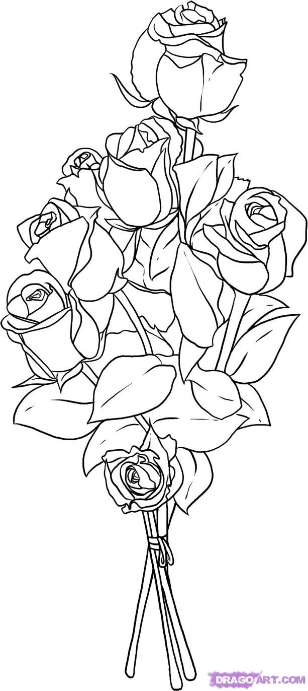 how to draw bouquet of flowers how to draw bouquet of flowers of bouquet to how flowers draw