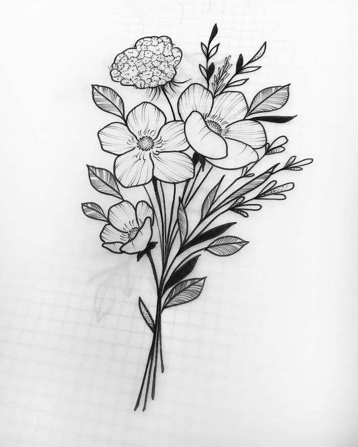 how to draw bouquet of flowers the 25 best flower bouquet drawing ideas on pinterest how bouquet to of draw flowers
