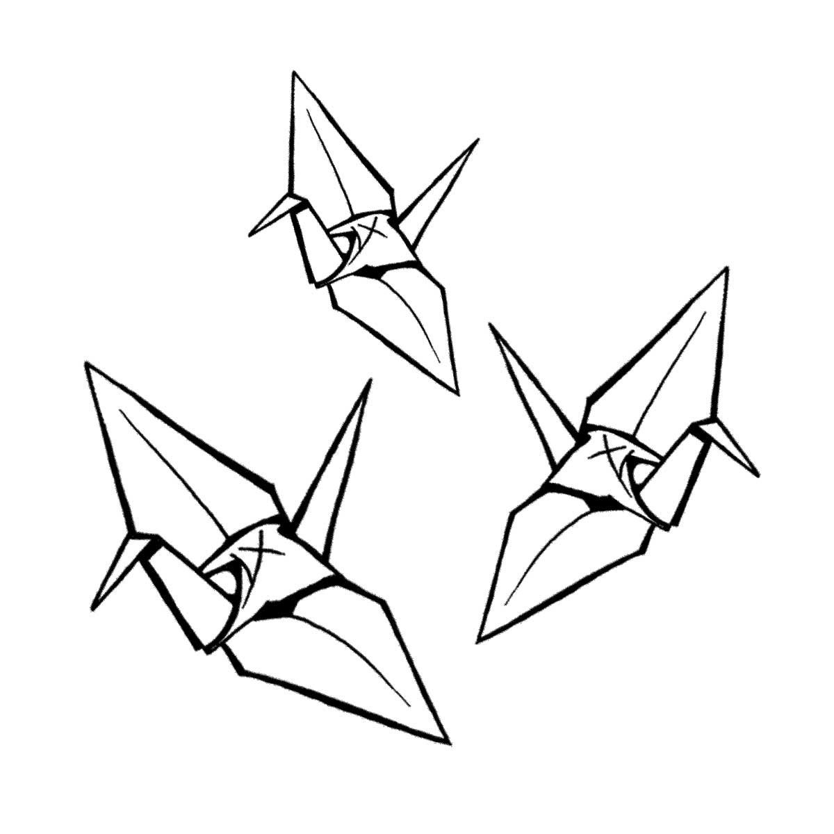 how to draw crane bird origami crane drawing at getdrawings free download how crane to draw bird