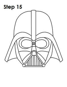 how to draw darth vader mask 2 ways to draw darth vader learn to draw darth vaders vader darth mask to draw how