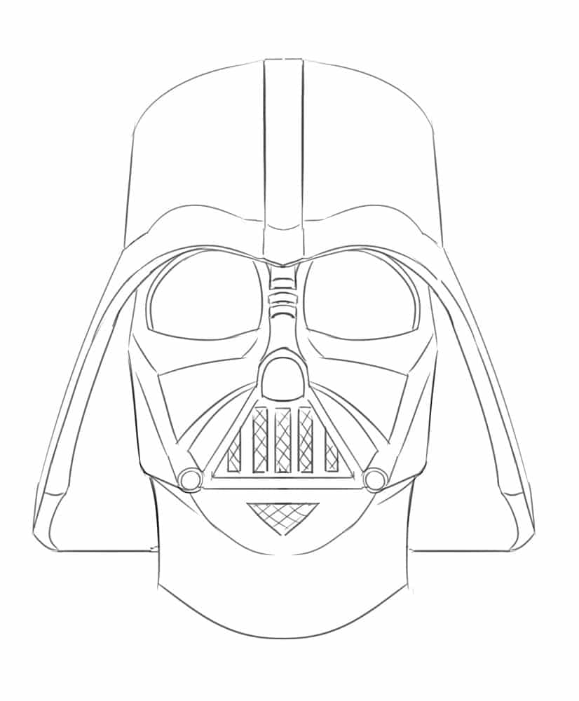how to draw darth vader mask darth paintings search result at paintingvalleycom to draw vader how mask darth