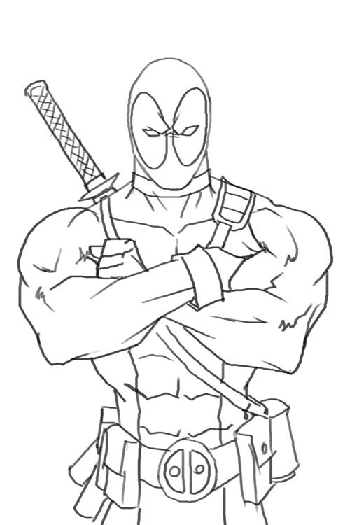 how to draw deadpool 10 best images i drew images on pinterest coloring draw to how deadpool