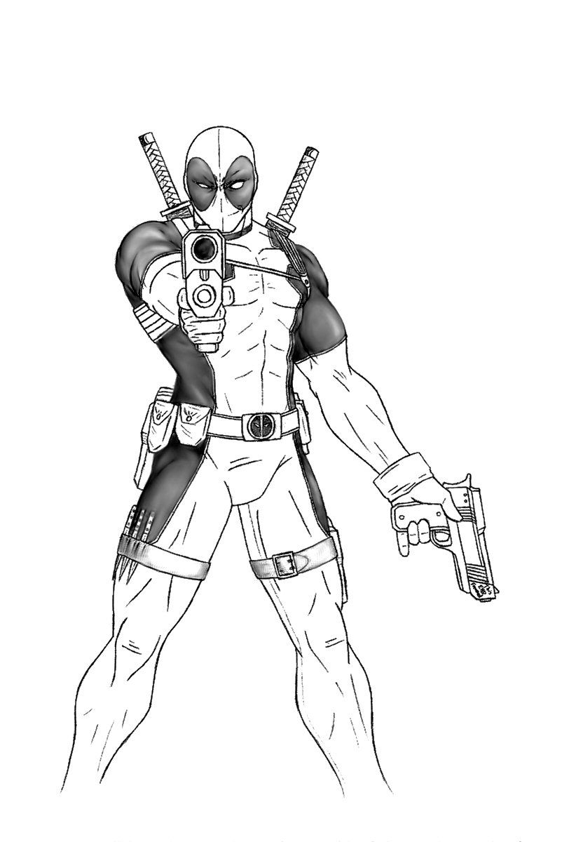 how to draw deadpool deadpool drawing in pencil full body at getdrawings free how draw to deadpool