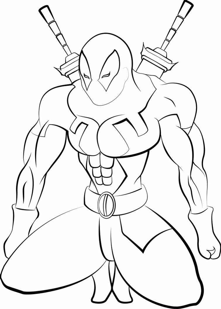 how to draw deadpool deadpool lineart by jogbadguy how to deadpool draw