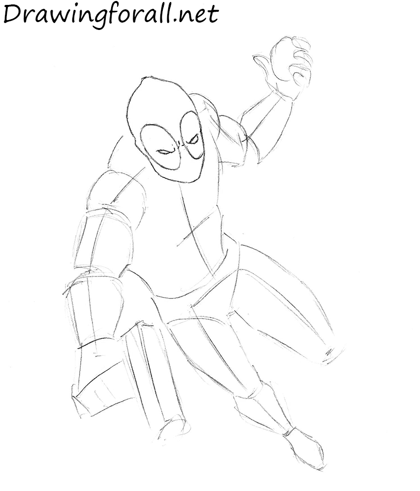 how to draw deadpool how to draw a deadpool step by step drawing tutorials to deadpool how draw