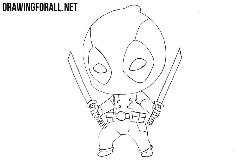 how to draw deadpool how to draw chibi deadpool drawingforallnet draw how to deadpool