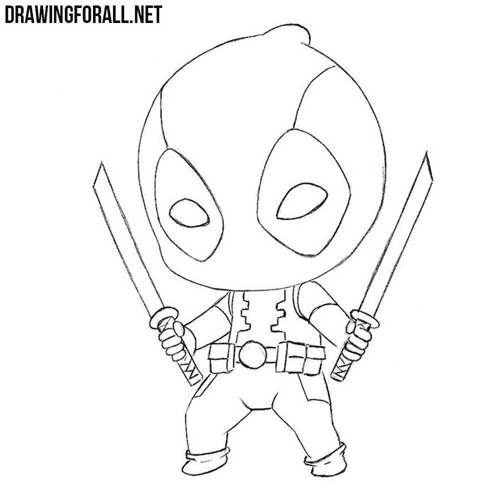 how to draw deadpool how to draw chibi deadpool drawingforallnet to deadpool draw how