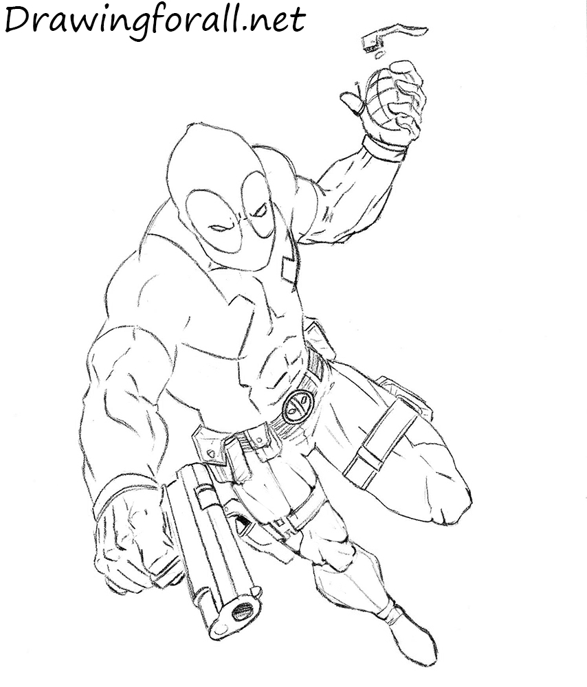 how to draw deadpool how to draw deadpool drawingforallnet draw to deadpool how