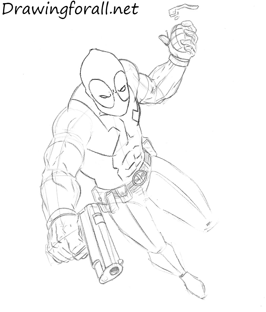 how to draw deadpool how to draw deadpool drawingforallnet how deadpool draw to