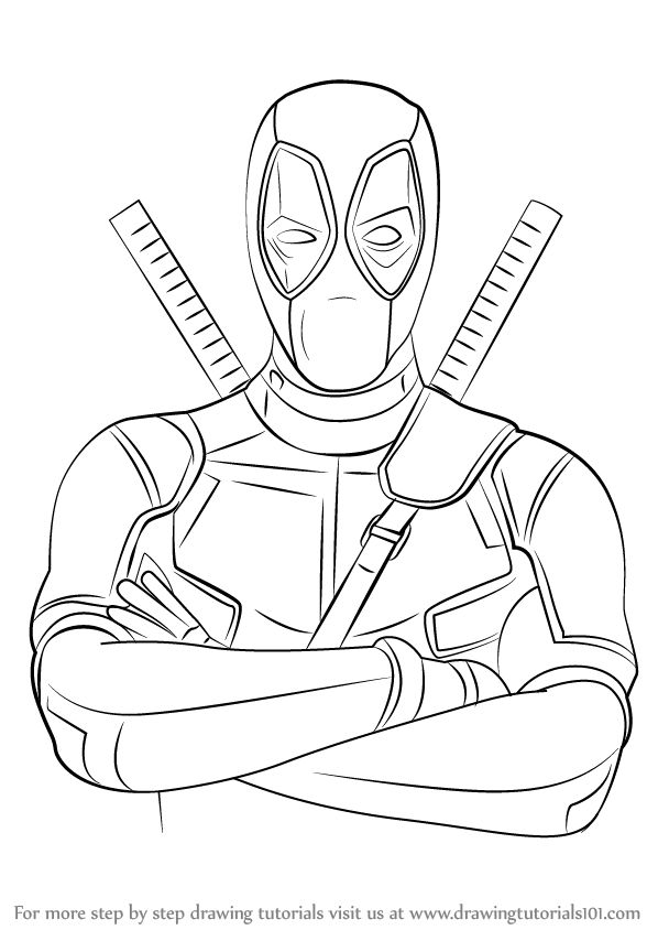how to draw deadpool how to draw deadpool head drawingforallnet how deadpool draw to