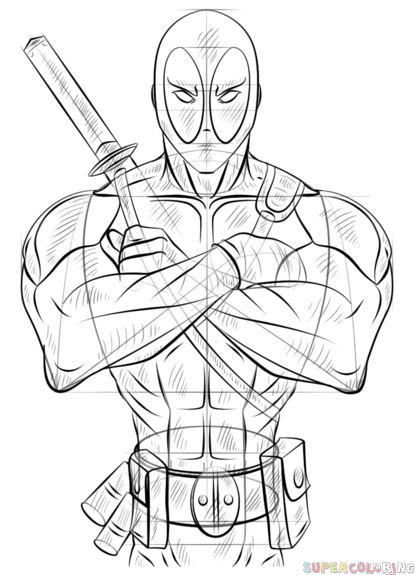 how to draw deadpool how to draw domino deadpool 2 drawing tutorial draw it draw to how deadpool