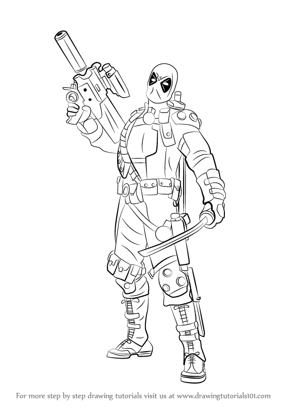 how to draw deadpool how to draw female deadpool step by step concept art to how draw deadpool