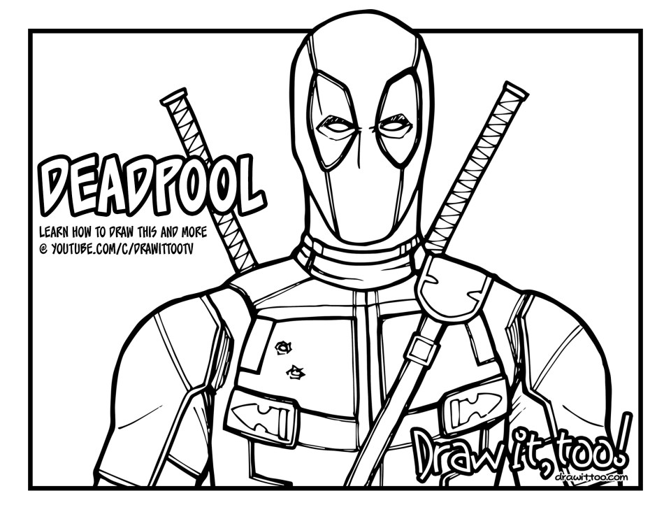 how to draw deadpool learn how to draw deadpool deadpool step by step draw how deadpool to