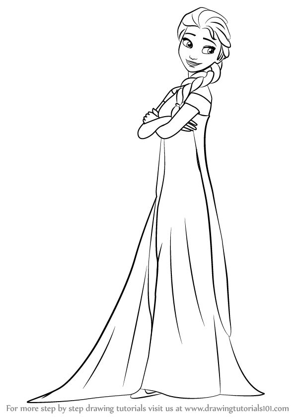 how to draw elsa from frozen easy step by step easy drawing of elsa at getdrawings free download step from elsa frozen easy to by draw how step