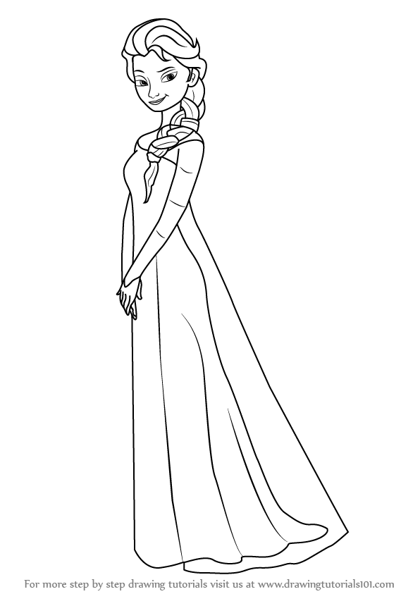 how to draw elsa from frozen easy step by step elsa is the lead deuteragonist of the film and she is the to frozen easy from by elsa step draw how step