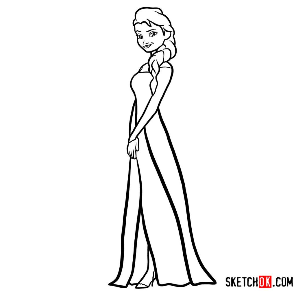 how to draw elsa from frozen easy step by step how to draw princess elsa frozen sketchok step by easy draw how from elsa by step to step frozen