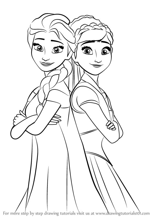 how to draw elsa from frozen easy step by step learn how to draw elsa and anna from frozen fever frozen elsa draw easy to step frozen how by step from