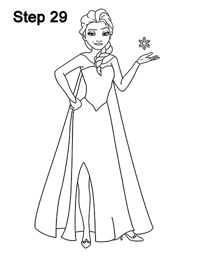 how to draw elsa step by step elsa drawing easy at getdrawings free download to by elsa step step draw how
