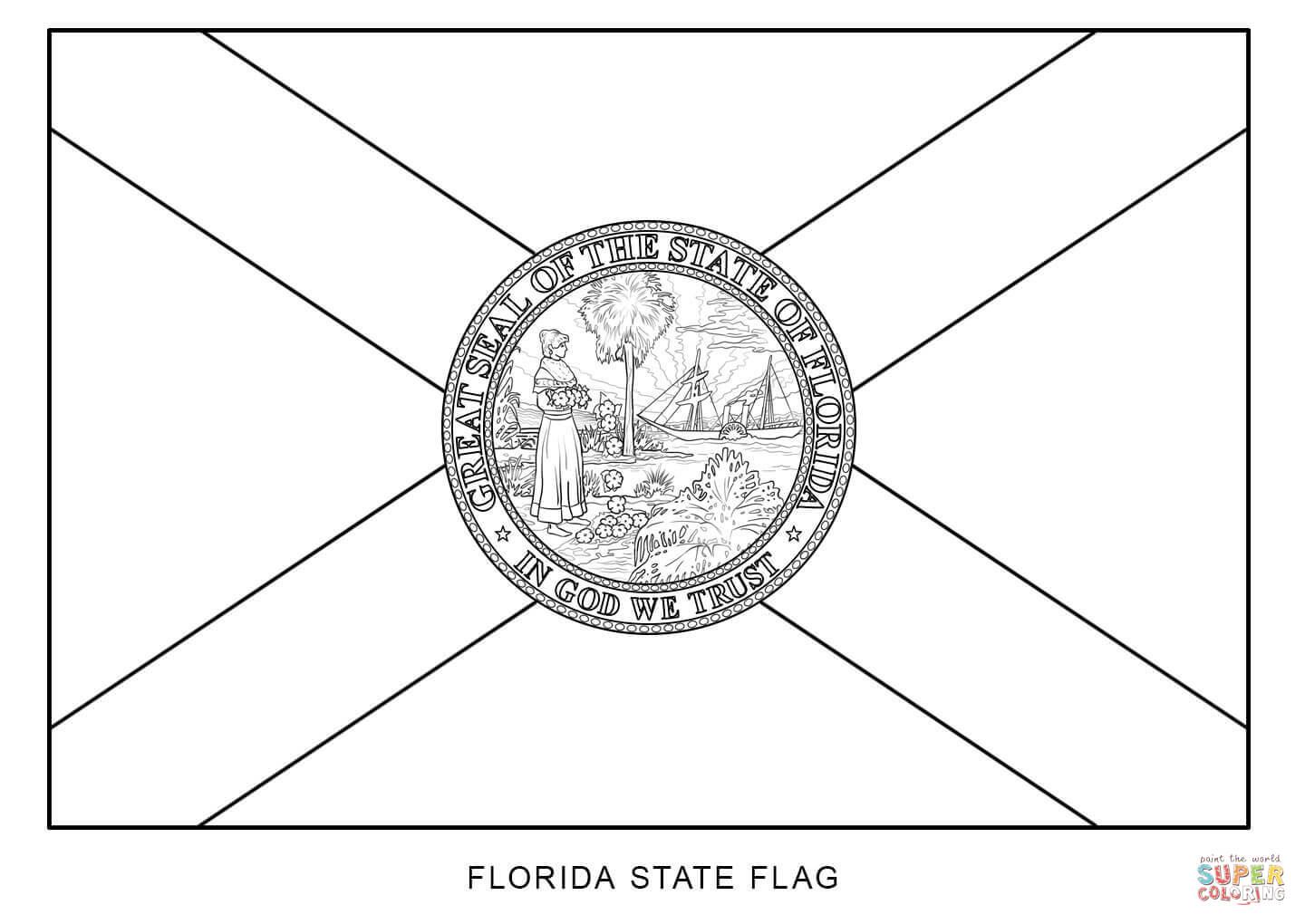 how to draw florida state flag colouring book of flags united states of america draw state how florida flag to