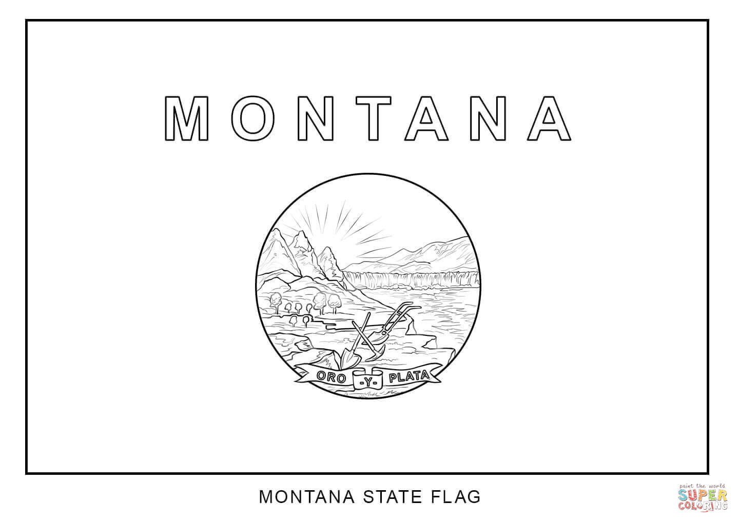how to draw florida state flag flag of montana coloring page free printable coloring pages flag to florida how state draw