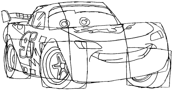 how to draw lightning mcqueen step by step moviecarscartoon cars coloring pages cartoon kids to draw step how by mcqueen lightning step