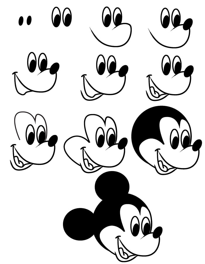 how to draw micky mickey mouse drawing step by step at paintingvalleycom micky draw to how