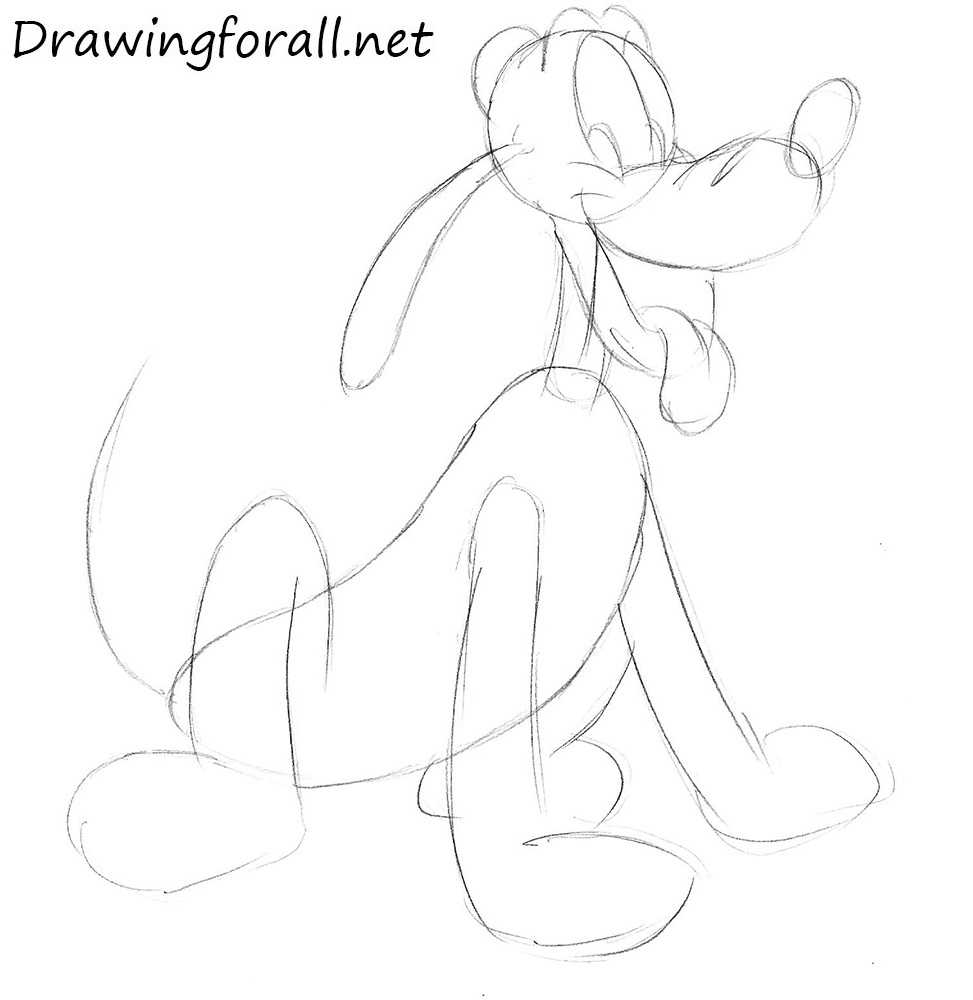 how to draw pluto the dog how to draw pluto the pup step by step drawing tutorials to draw dog how the pluto