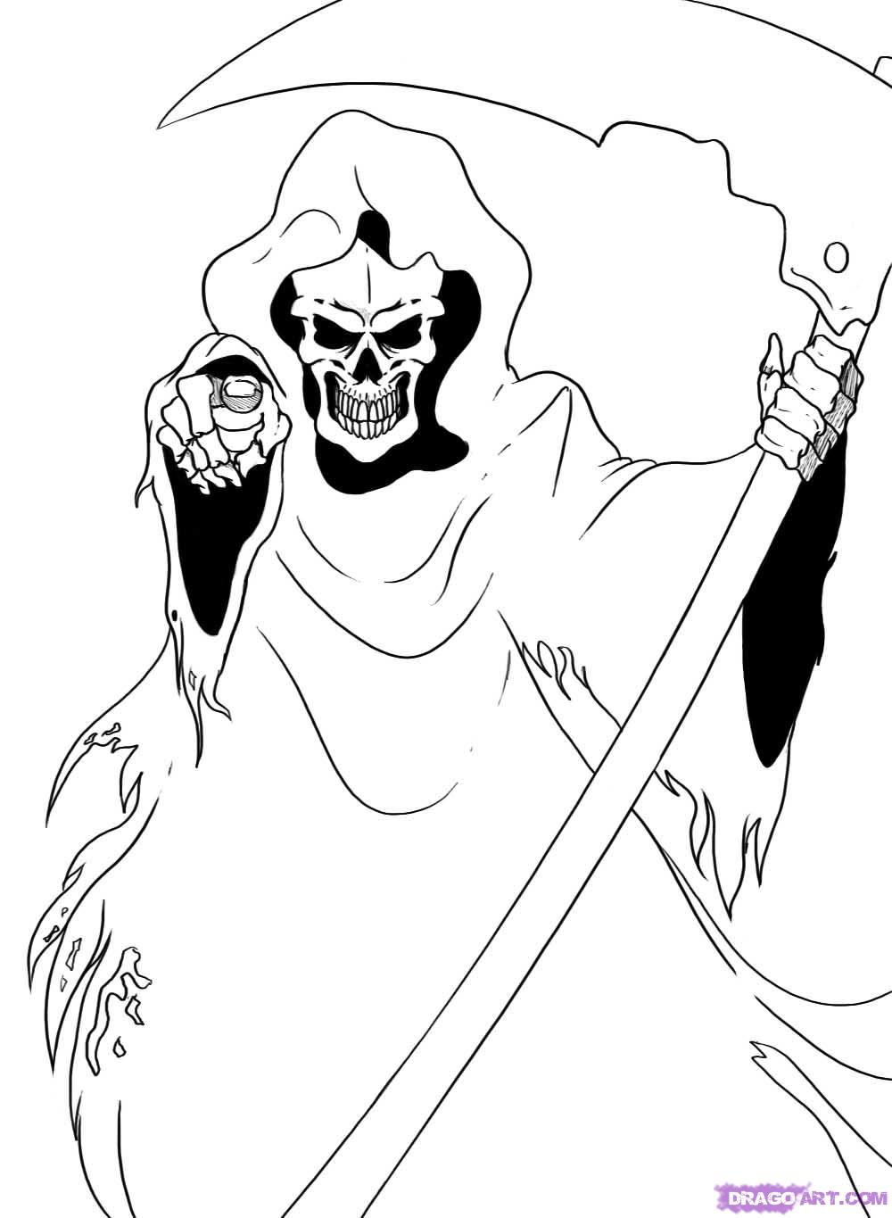how to draw the grim reaper grim reaper drawing photo drawing skill how grim reaper to the draw