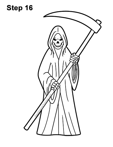 how to draw the grim reaper how to draw a grim reaper face step by step drawing draw how to the reaper grim