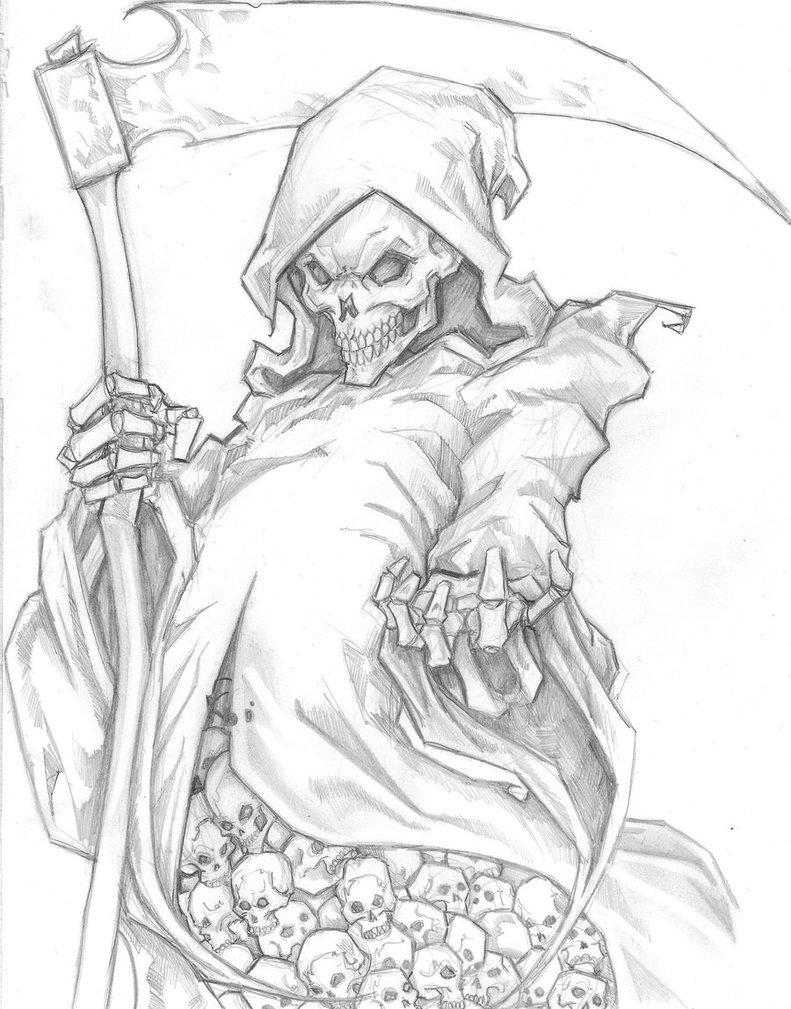 how to draw the grim reaper wayne tully horror art grim reaper drawing drawing the how to reaper the grim draw