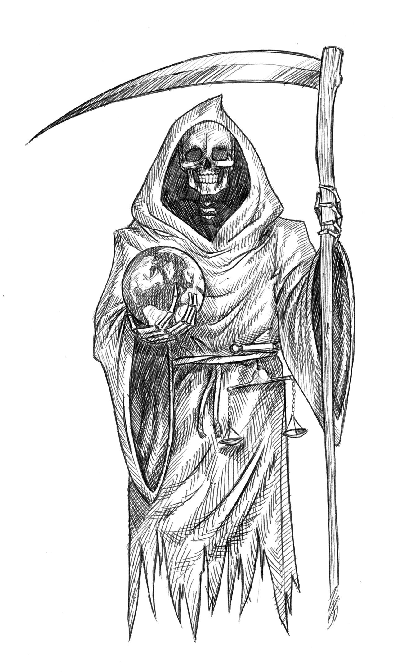 how to draw the grim reaper wayne tully horror art grim reaper drawing drawing the reaper how grim the to draw