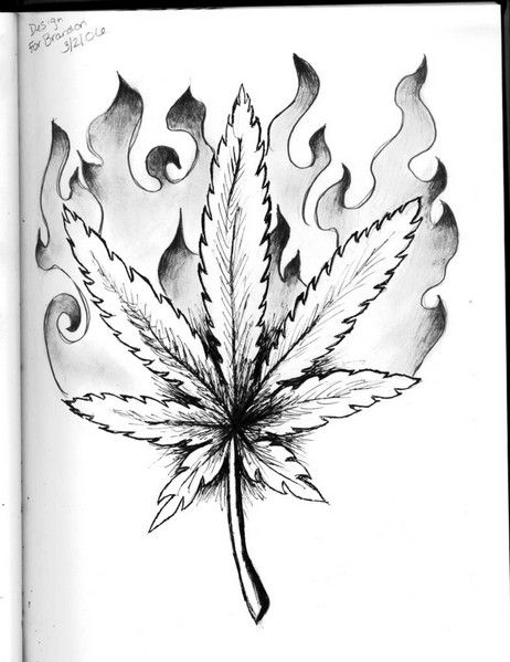 how to draw the weed leaf pin on my tattoo to the draw leaf weed how