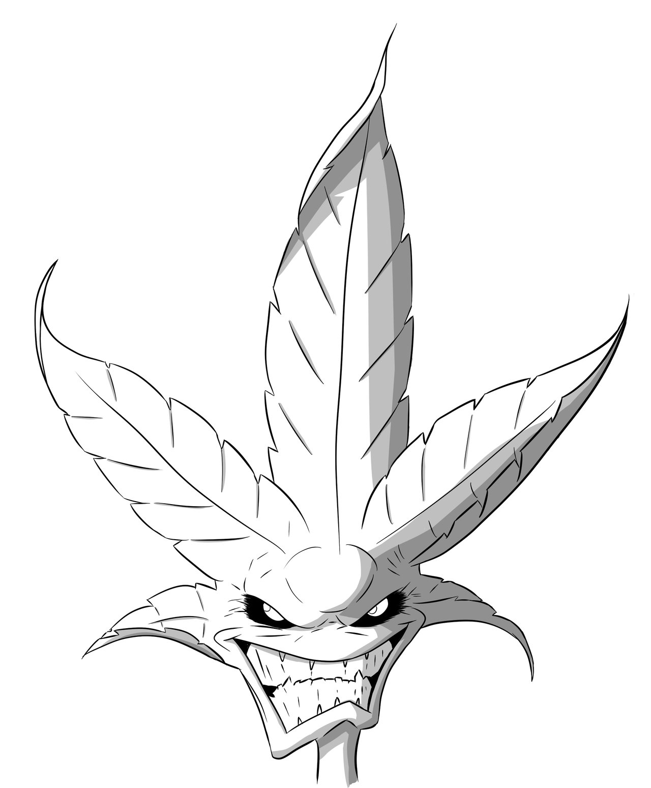 how to draw the weed leaf pot leaf drawing step by step free download on clipartmag to weed the draw leaf how