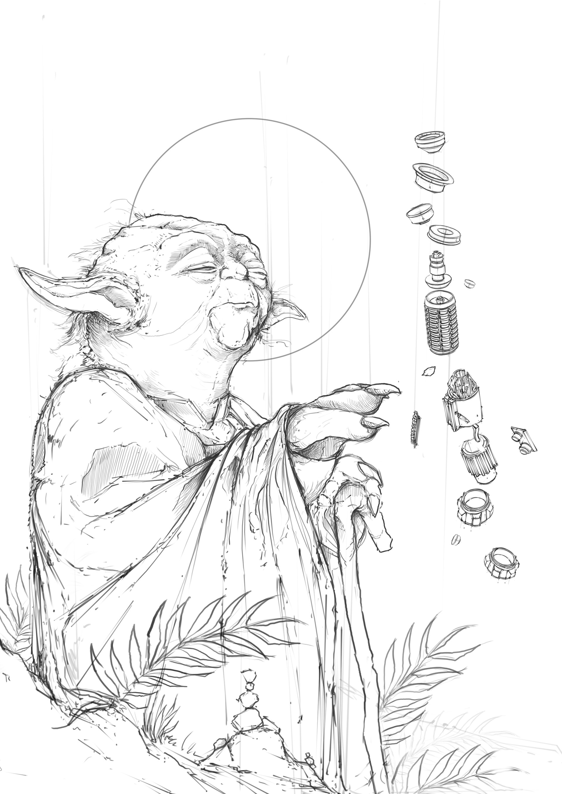 how to draw yoda with lightsaber lightsaber drawing at getdrawings free download with draw lightsaber yoda to how